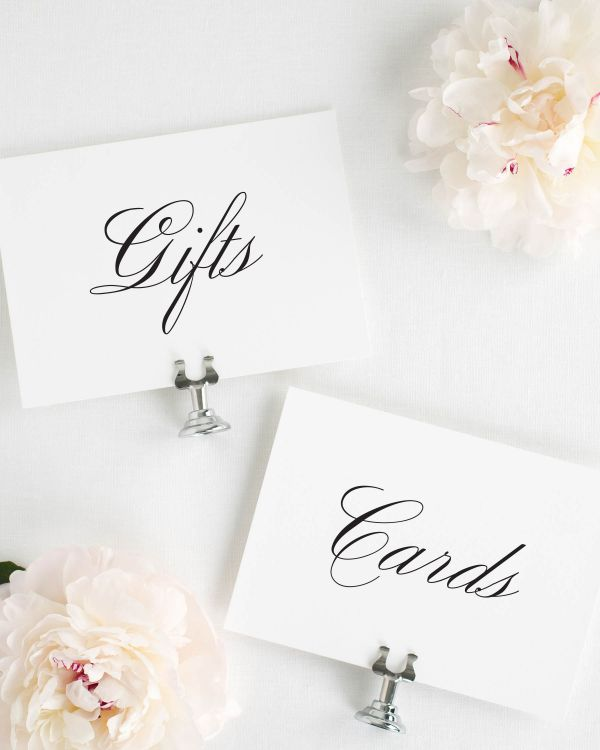 Classic Script Wedding Signs Package