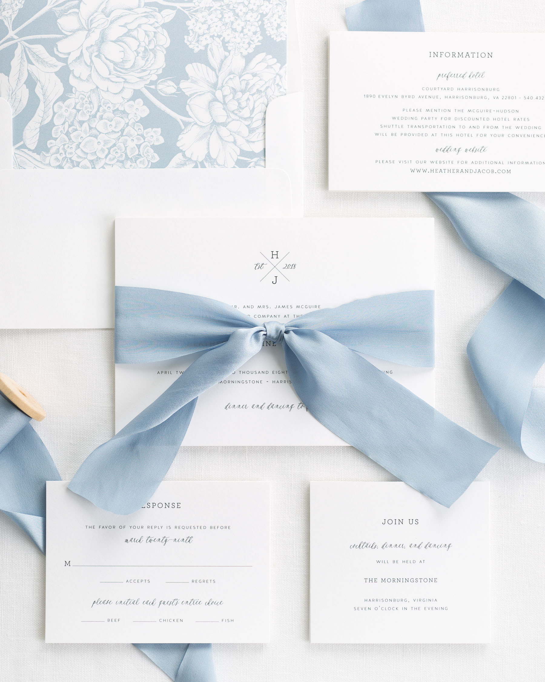 Wedding Invitations With Ribbons: Cross Monogram Ribbon Wedding Invitations