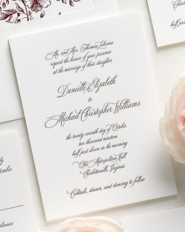 Danielle Letterpress Wedding Invitations