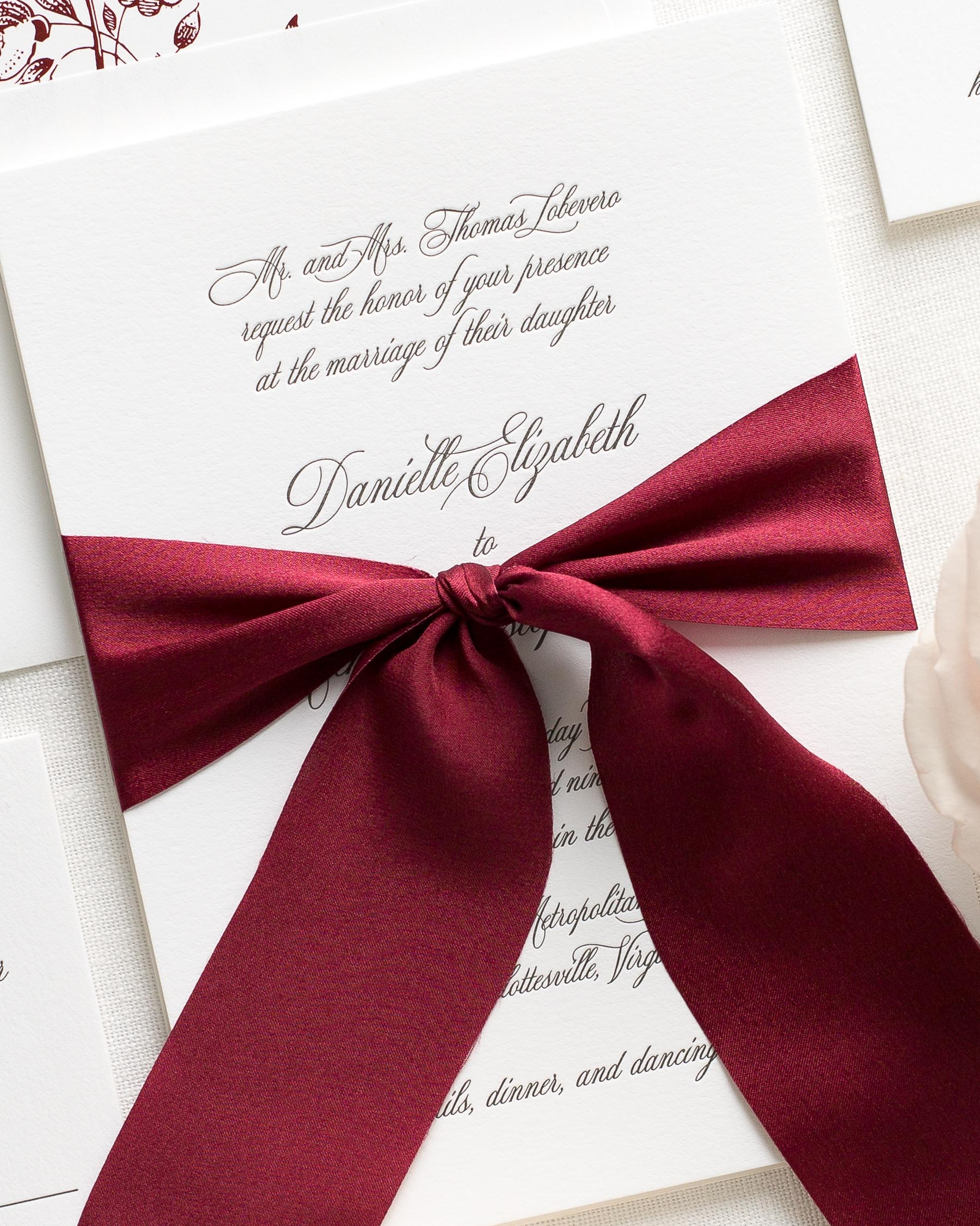 Danielle Letterpress Wedding Invitations - Letterpress Wedding ...