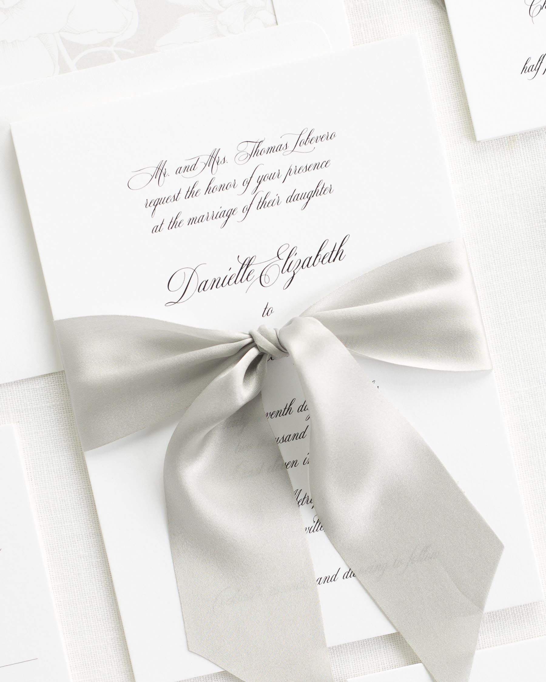 Danielle Ribbon Wedding Invitations