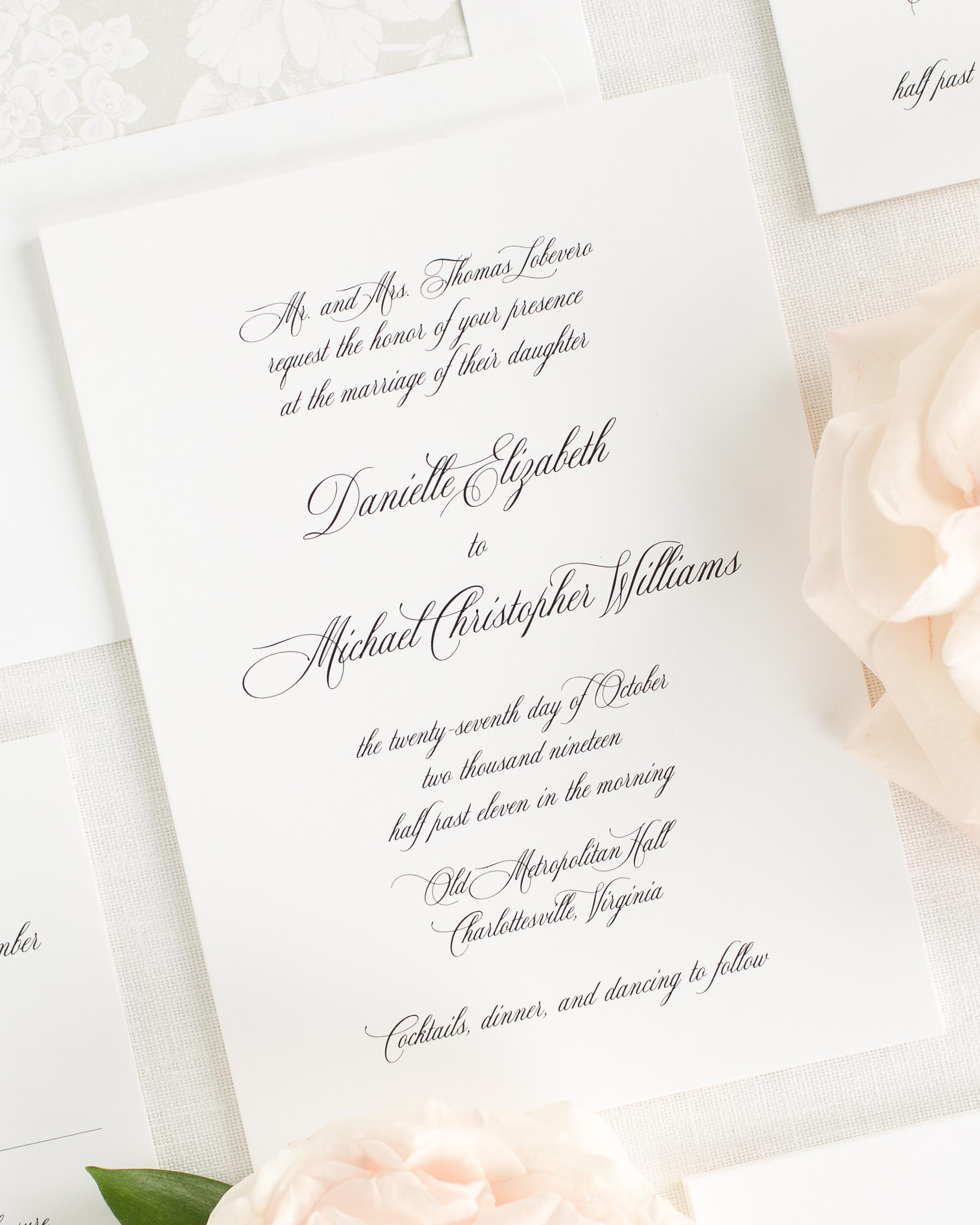 Danielle Wedding Invitations