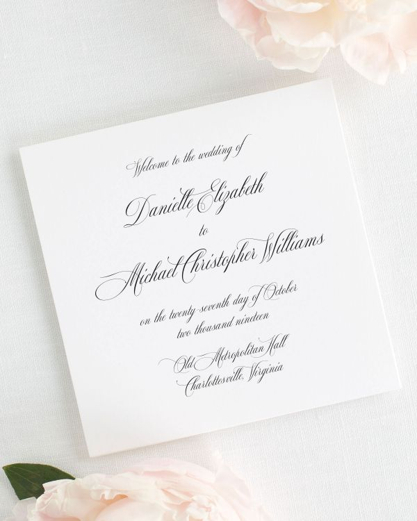 Danielle Wedding Programs