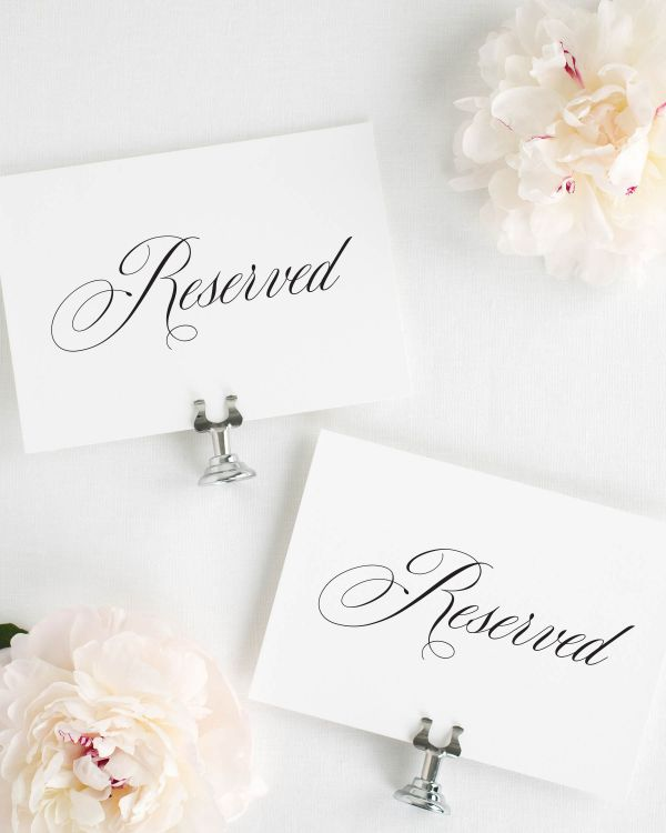 Danielle Reserved Signs
