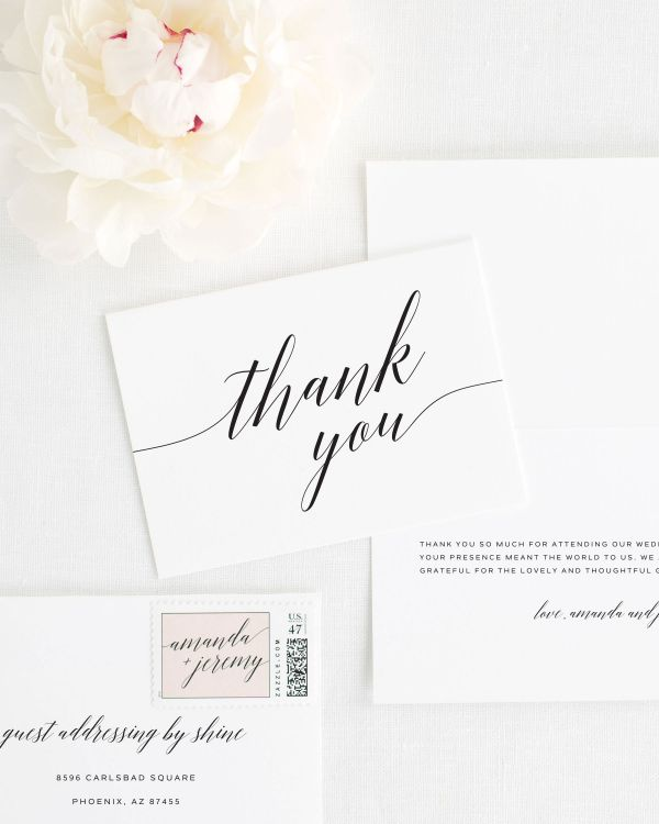 Daring Romance Thank You Cards