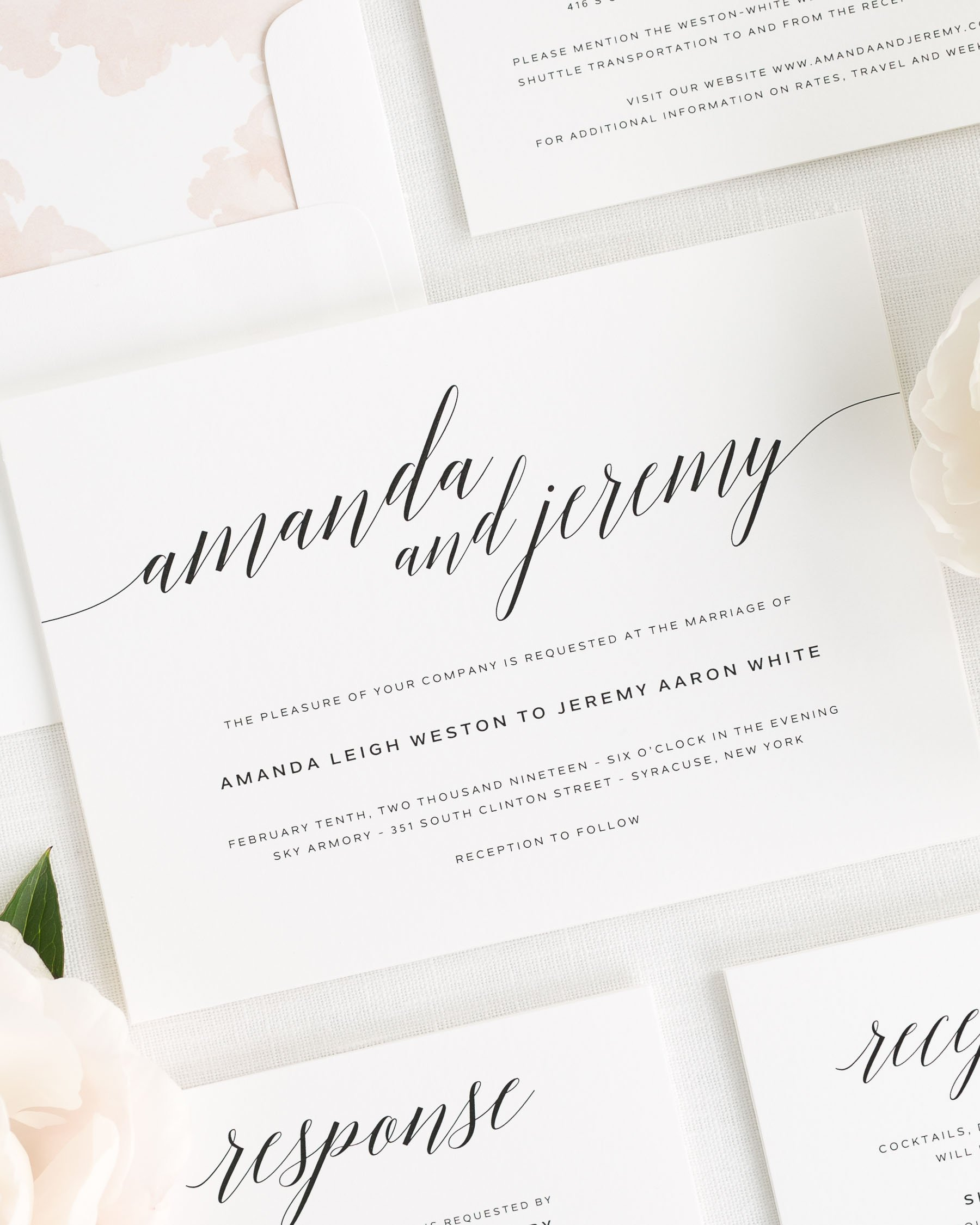 Daring Romance Wedding Invitations