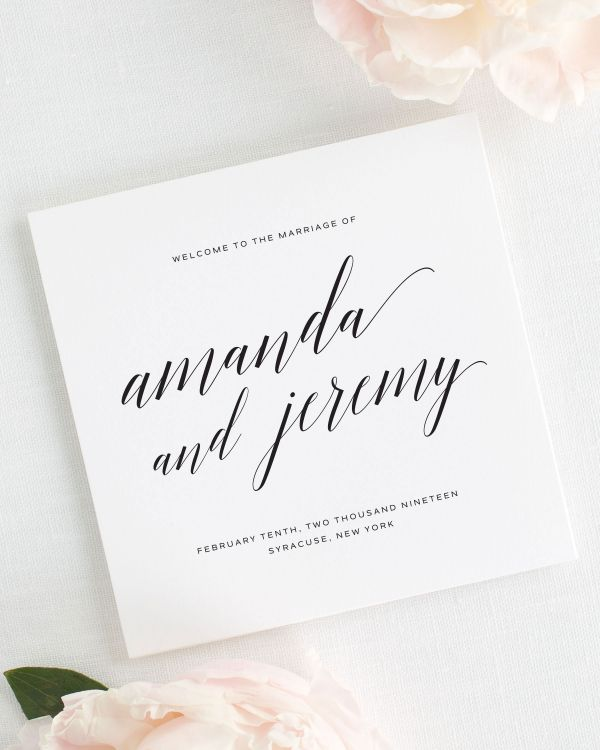 Daring Romance Wedding Programs