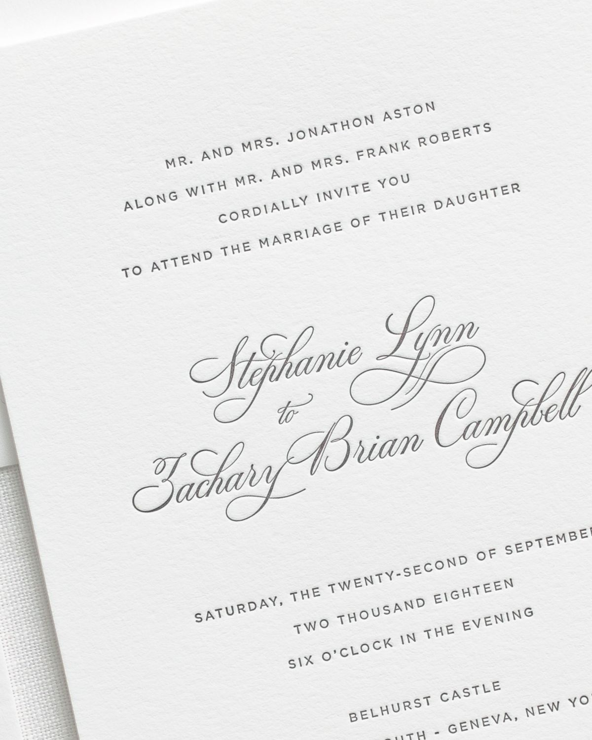 Wedding Invitations with Letterpress Printing