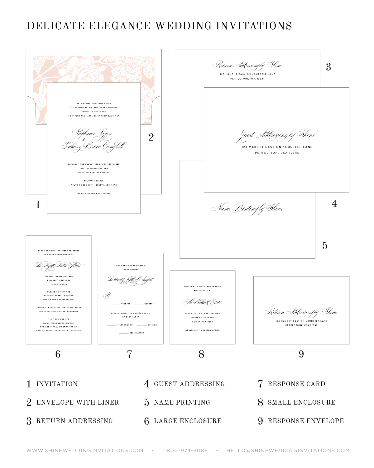 Wedding Invitation Components and Pieces Explanation