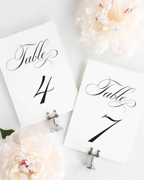 Delicate Elegance Table Numbers