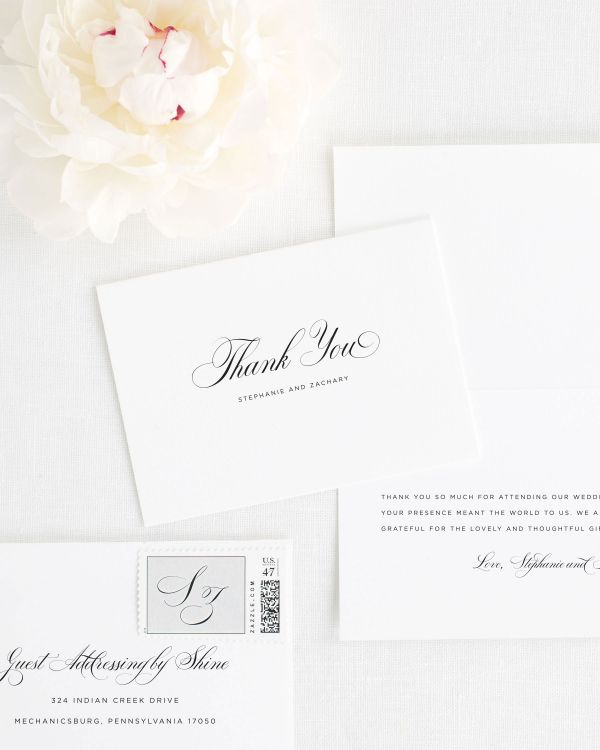 Delicate Elegance Thank You Cards