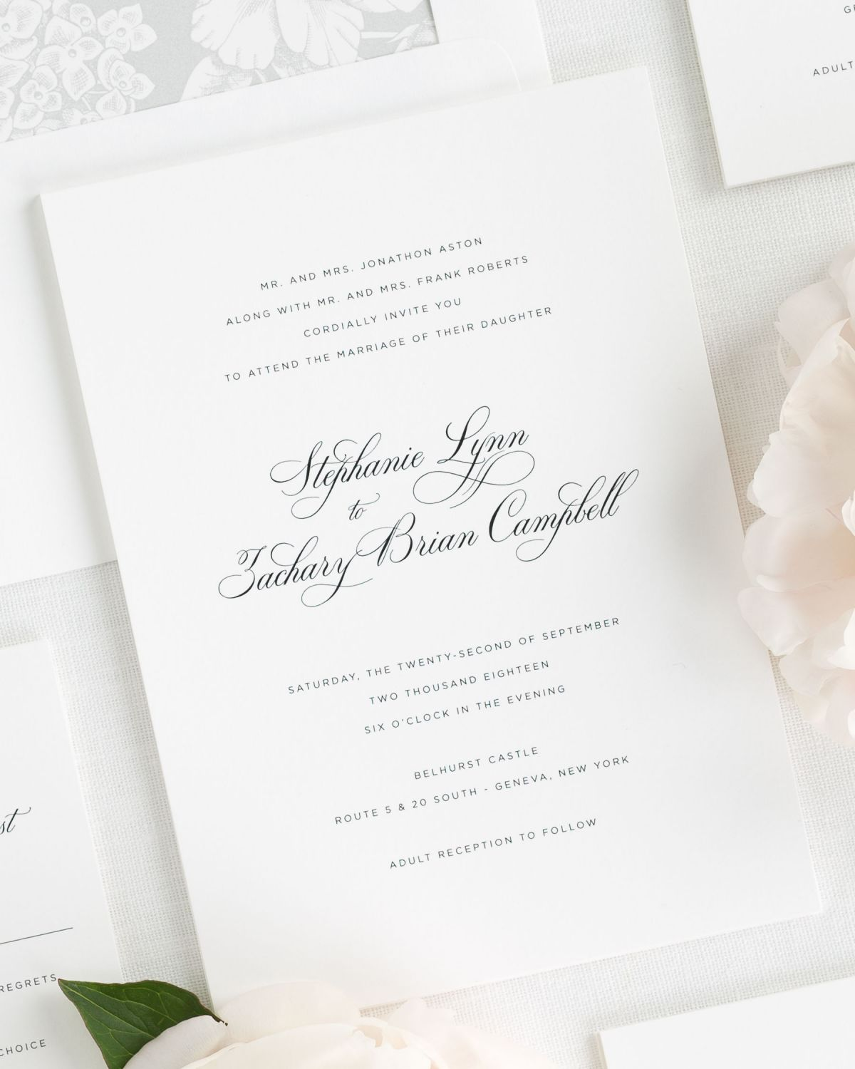 Classic Wedding Invitations with Simple Script