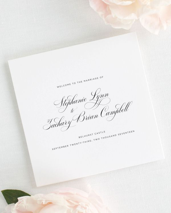 Delicate Elegance Wedding Programs