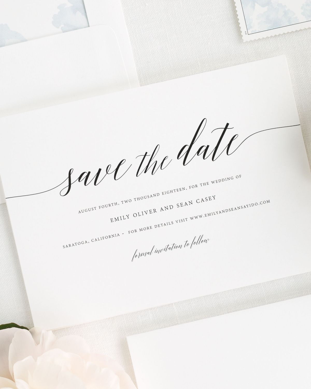 Delicate Romance Save the Date Cards Save the Date Cards by Shine