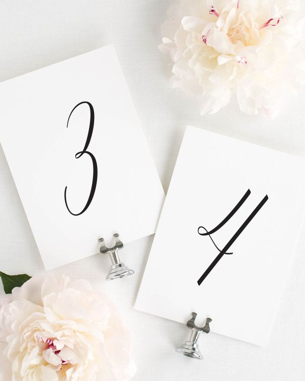 Delicate Romance Table Numbers