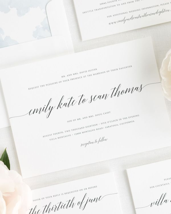 Delicate Romance Wedding Invitations