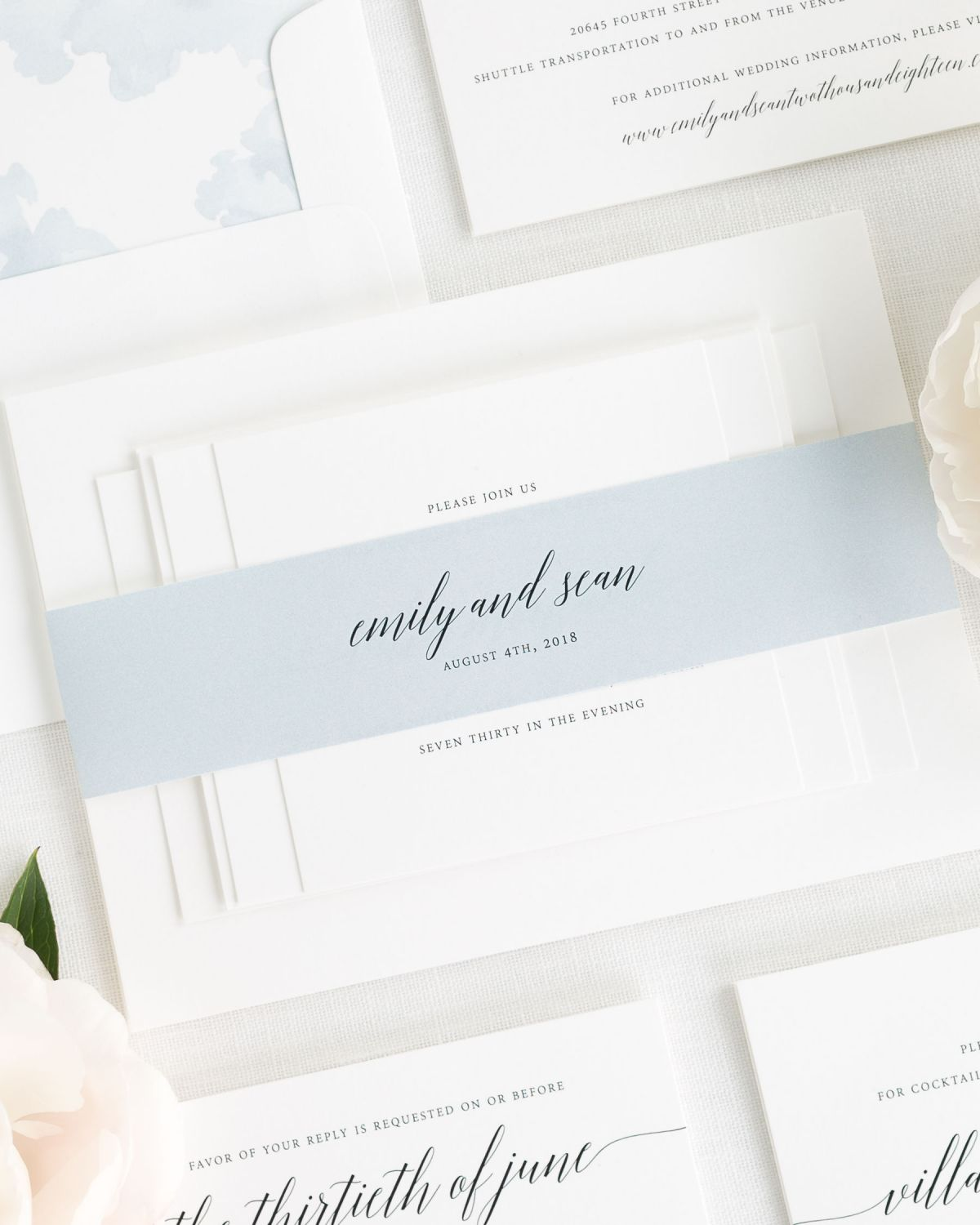 Delicate Romance Wedding Invitations - Wedding Invitations by Shine