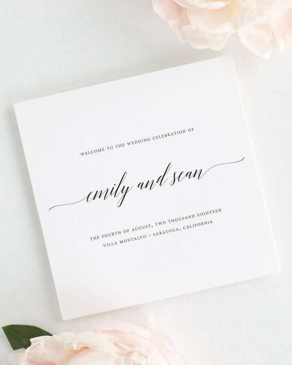 Delicate Romance Wedding Programs