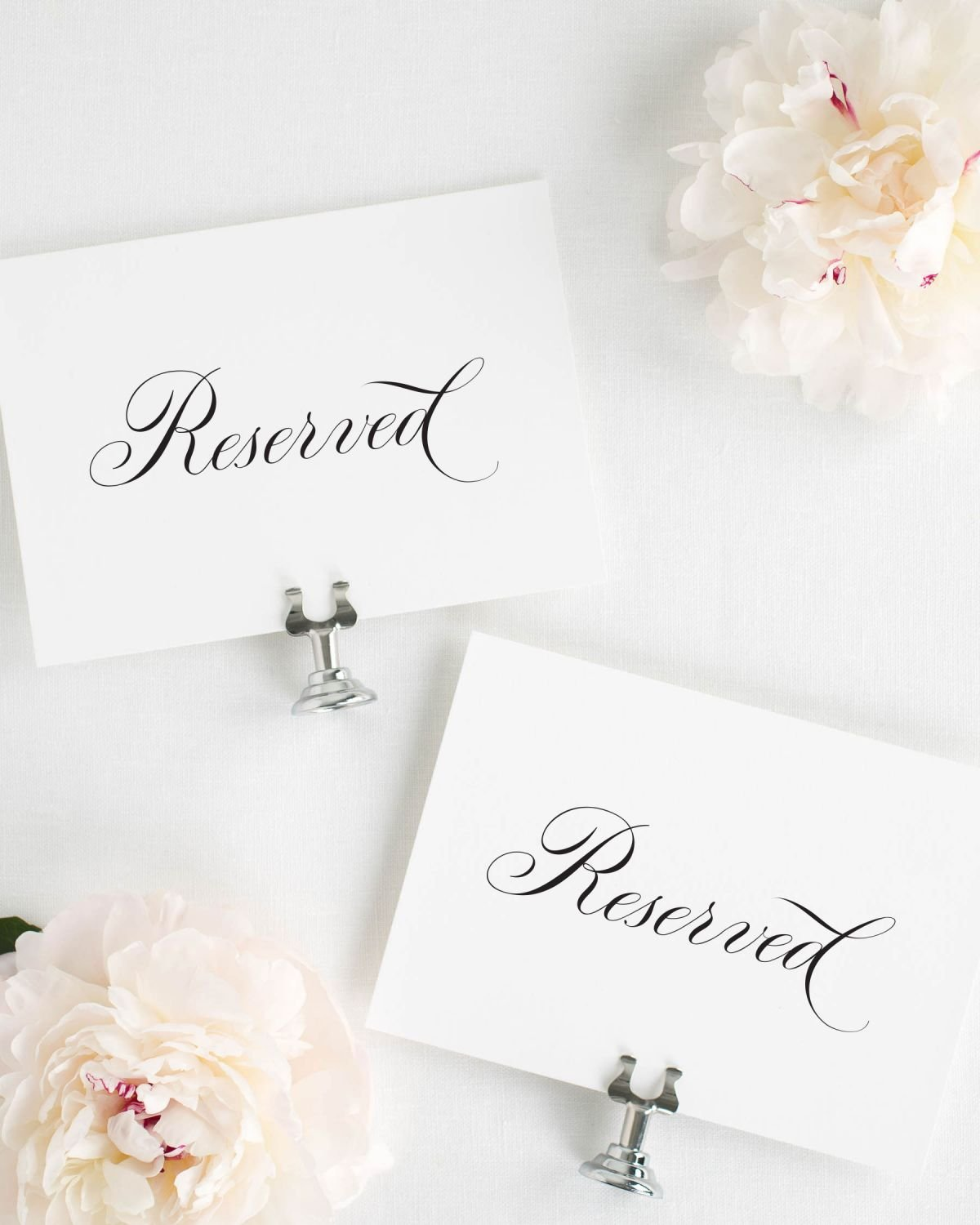 Reserved Signs for Weddings