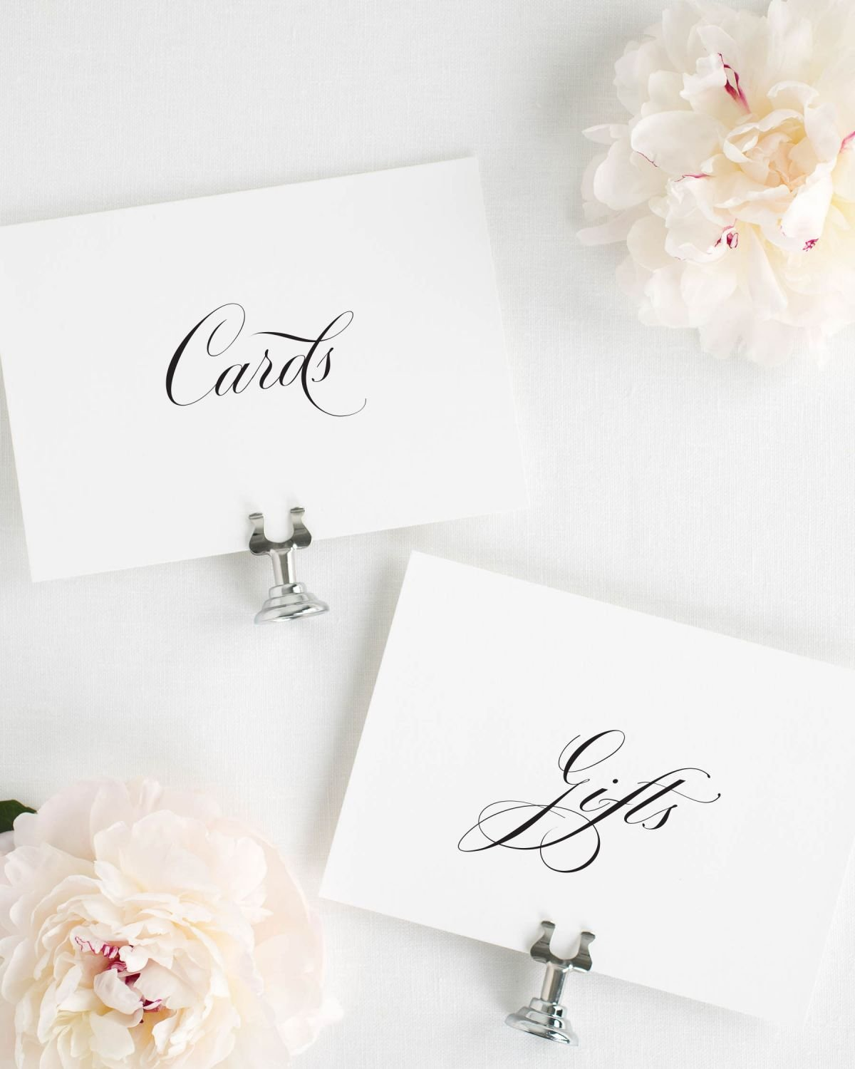 Script Gifts and Cards Signs for a Wedding