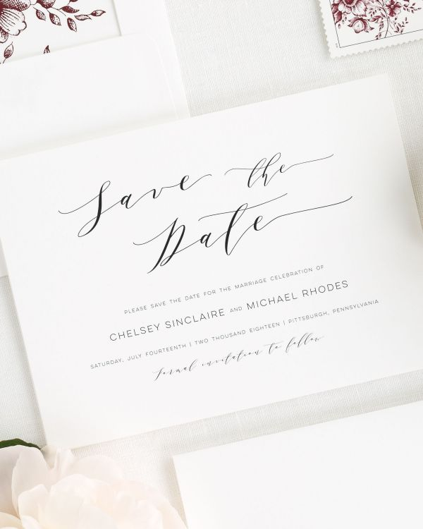 Dramatic Romance Save the Date Cards