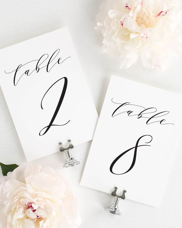 Dramatic Romance Table Numbers