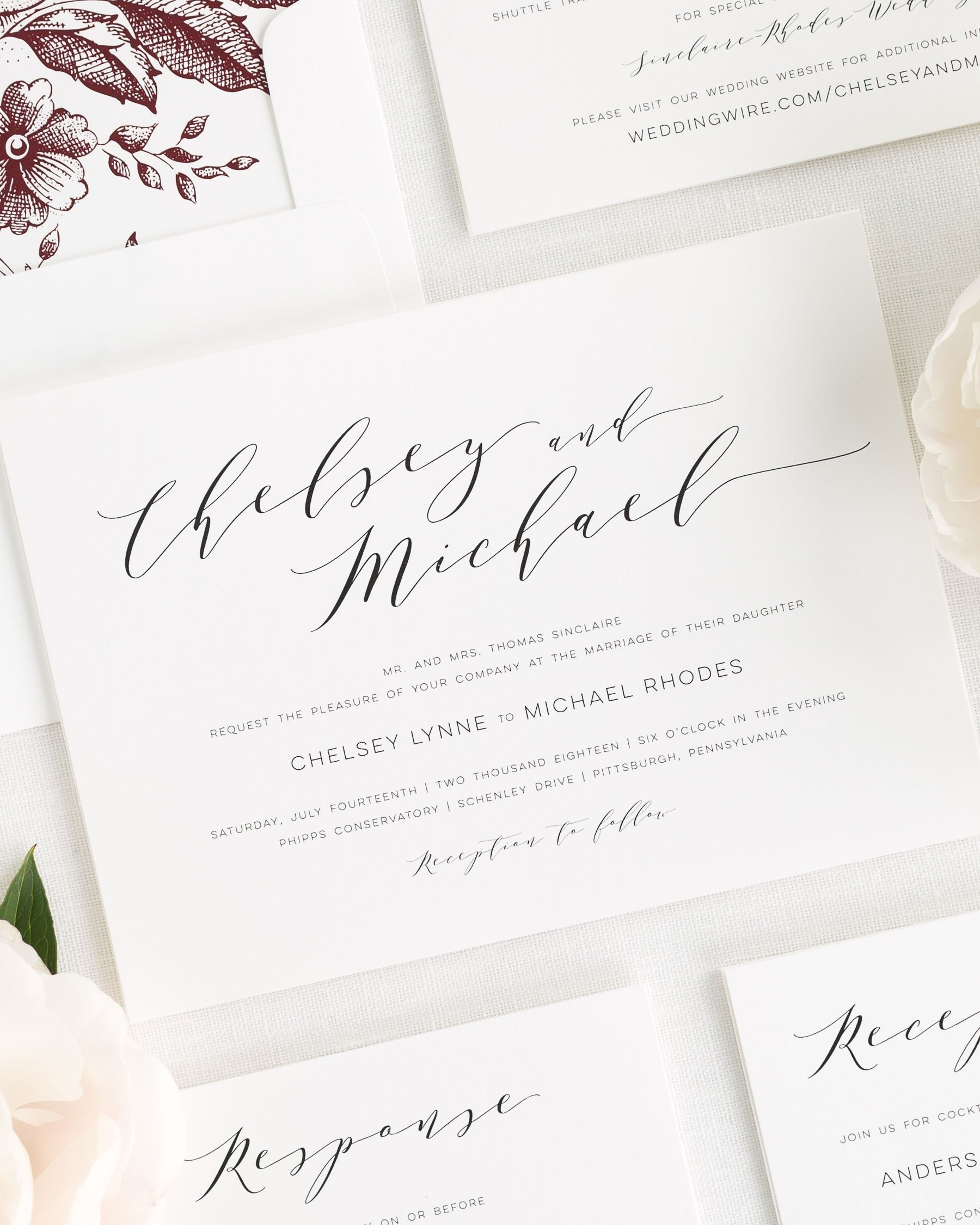 Dramatic Romance Wedding Invitations
