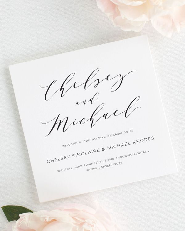 Dramatic Romance Wedding Programs