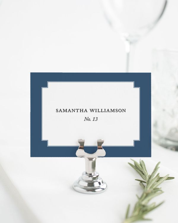 Elegant Border Place Cards