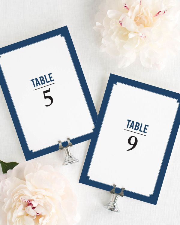 Elegant Border Table Numbers