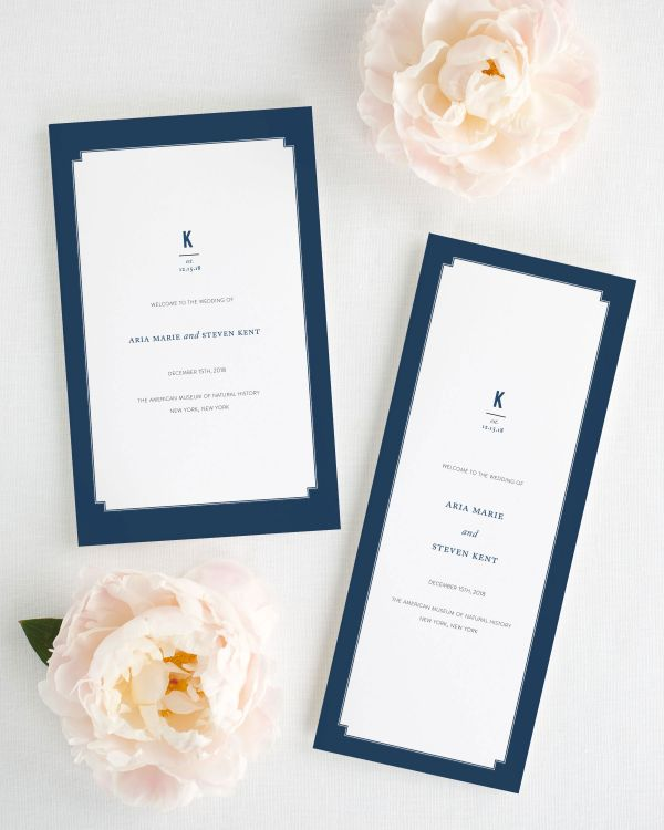 Elegant Border Booklet Wedding Programs