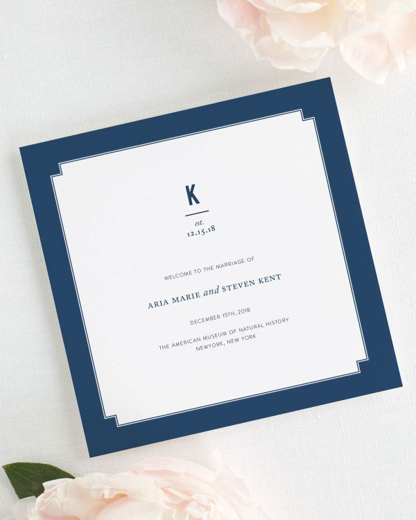 Elegant Border Wedding Programs