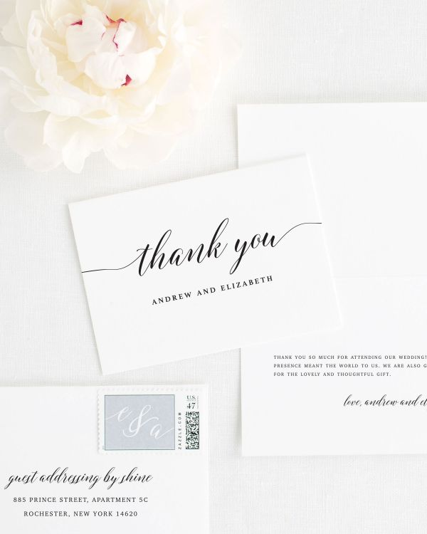 Elegant Romance Thank You Cards