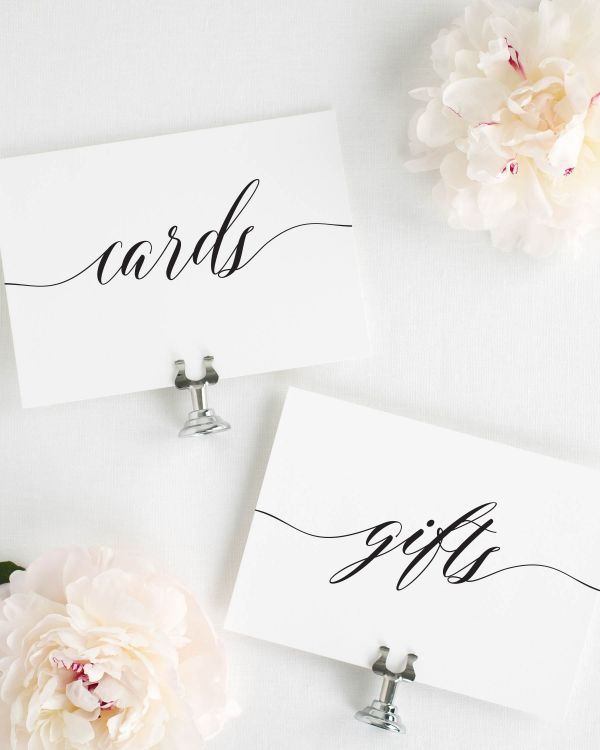 Elegant Romance Wedding Signs Package
