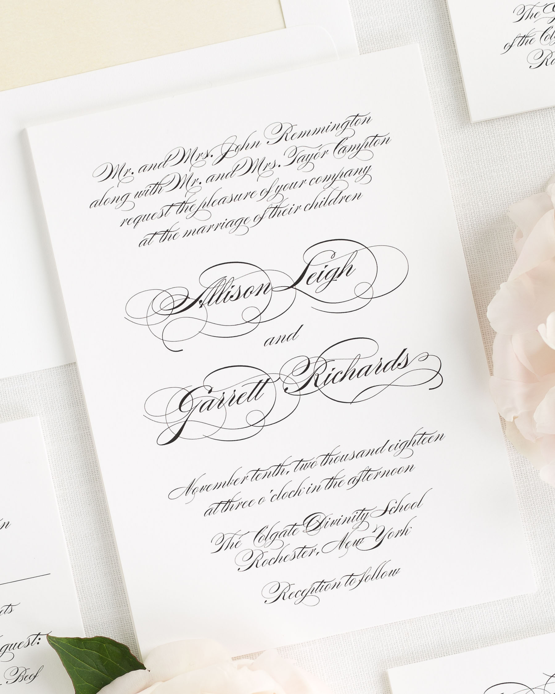 Cursive Wedding Invitations: Elegant Script Wedding Invitations