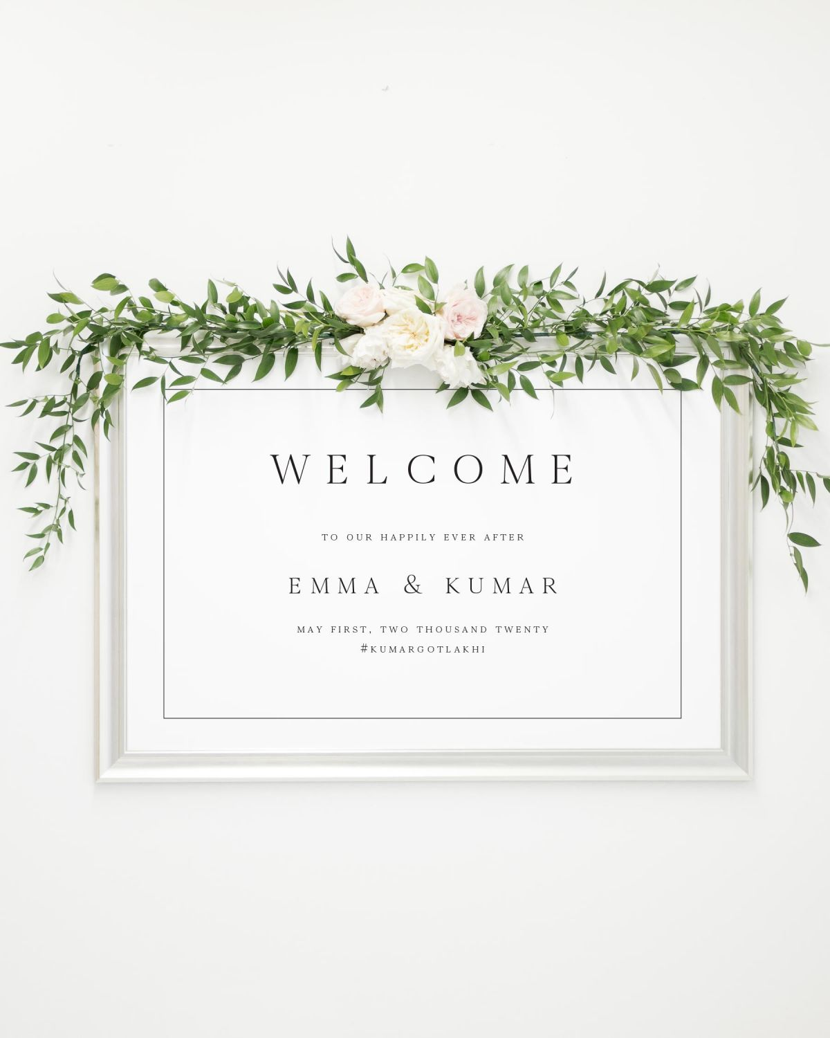 Wedding Welcome Sign.Emma Welcome Signs
