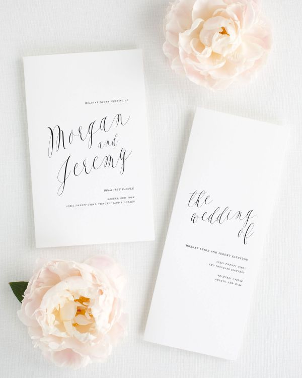Ethereal Calligraphy Booklet Wedding Programs