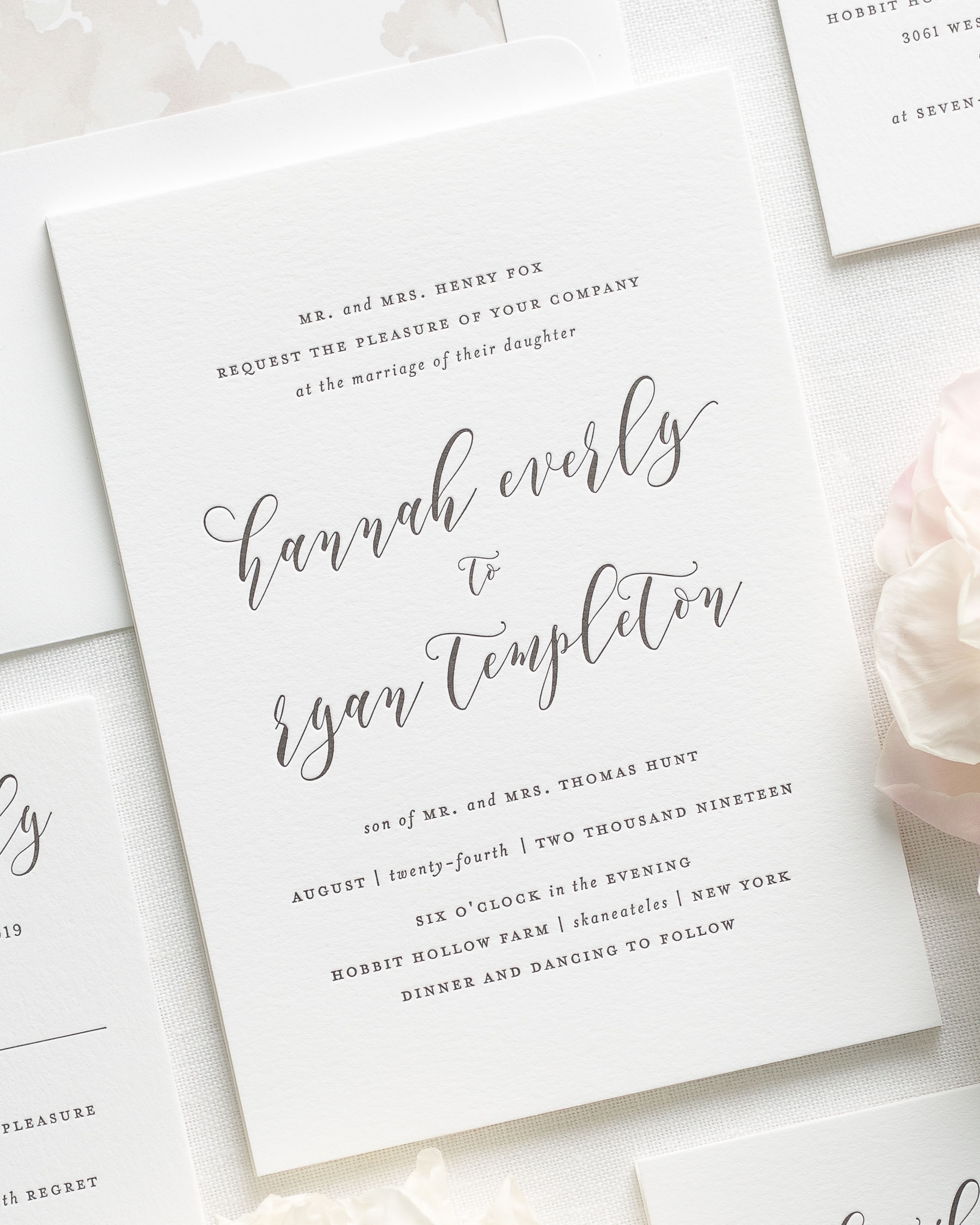 Everly Letterpress Wedding Invitations