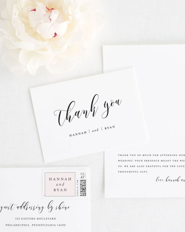 Thank You Cards Shine Wedding Invitations – Thank You Cards Weddings