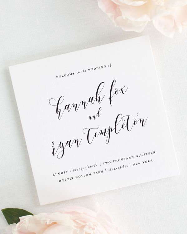 Everly Wedding Programs