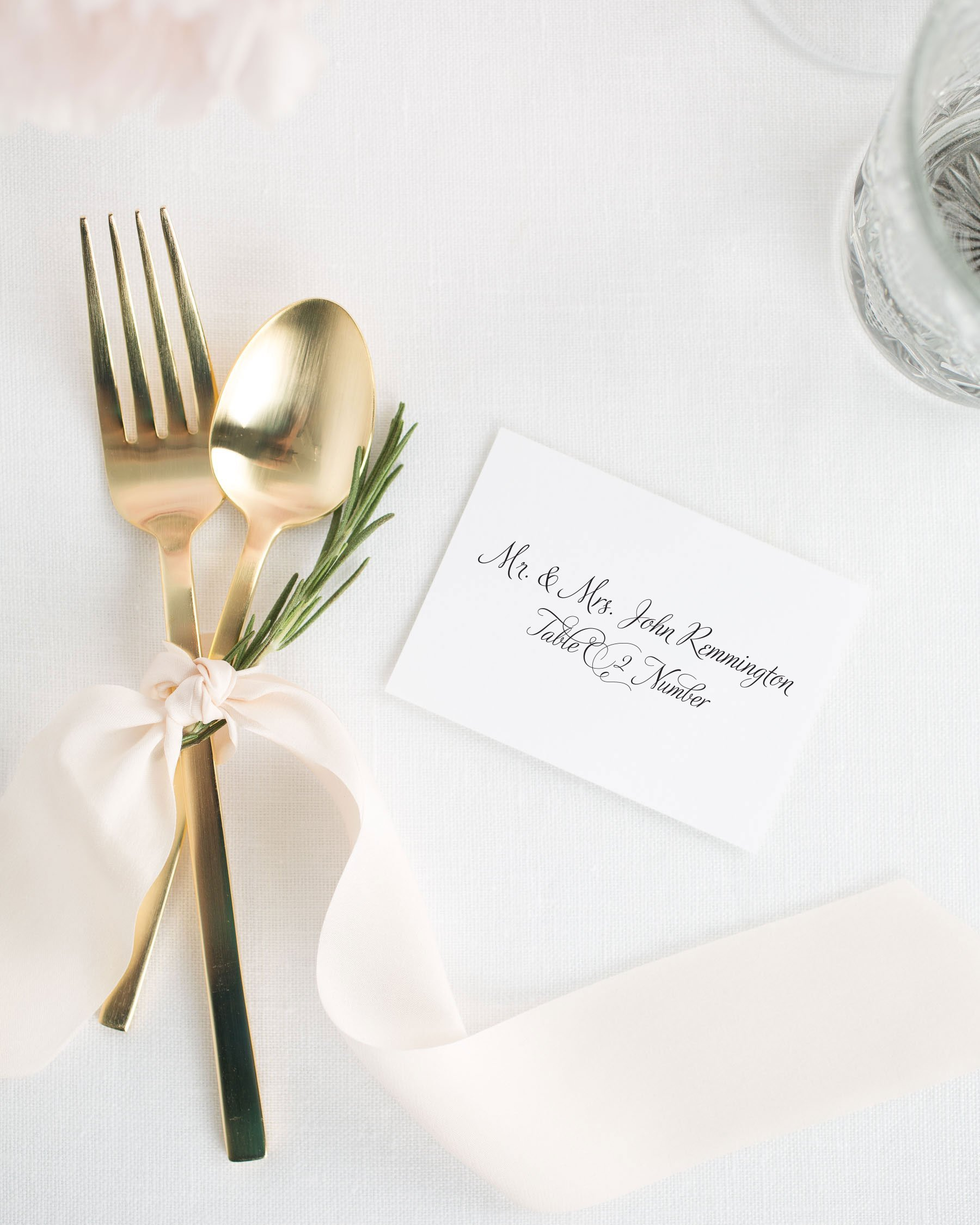 Fairytale Script Wedding Place Cards - Place Cards by Shine