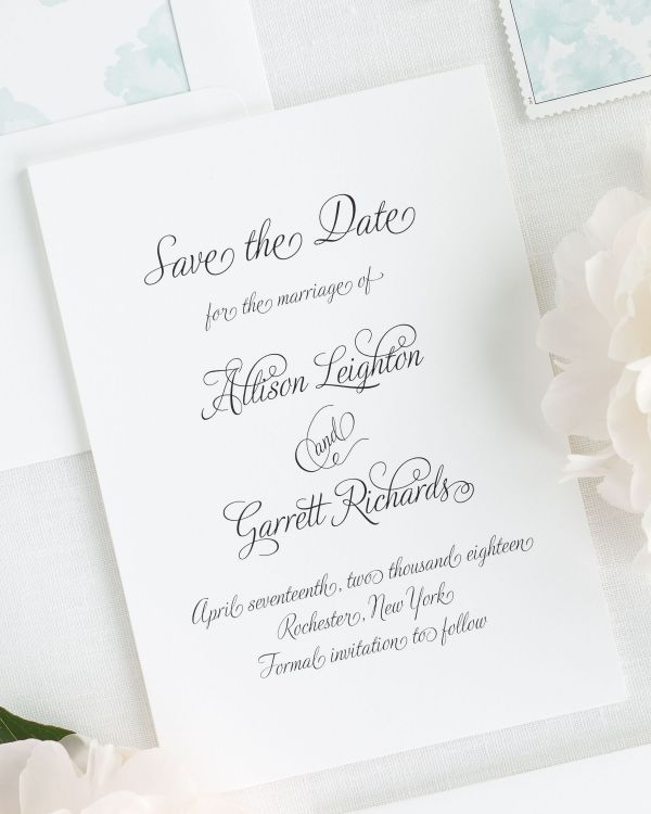 Fairytale Script Save the Date Cards