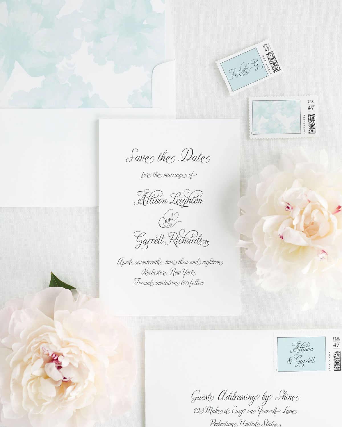 All Script Save the Date Cards in Mint