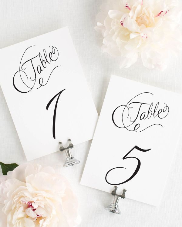Fairytale Script Table Numbers