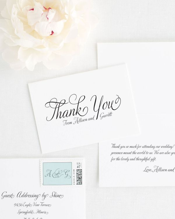 Fairytale Script Thank You Cards