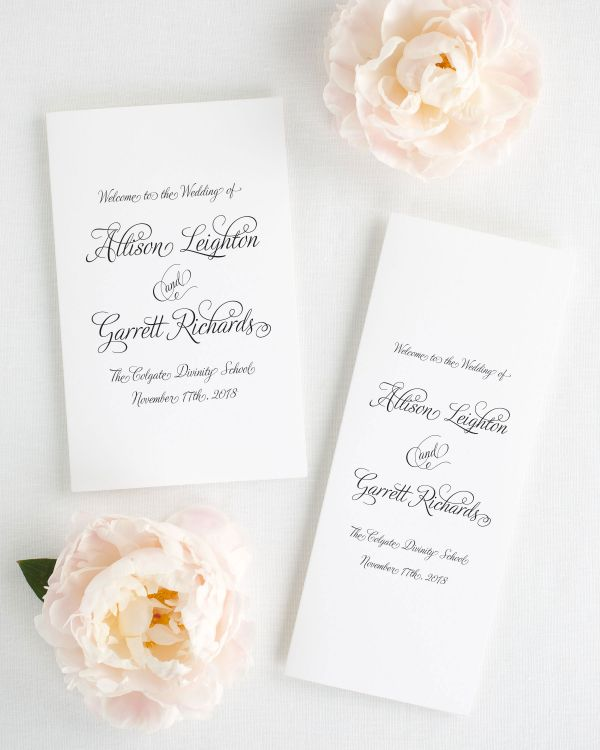 Fairytale Script Booklet Wedding Programs
