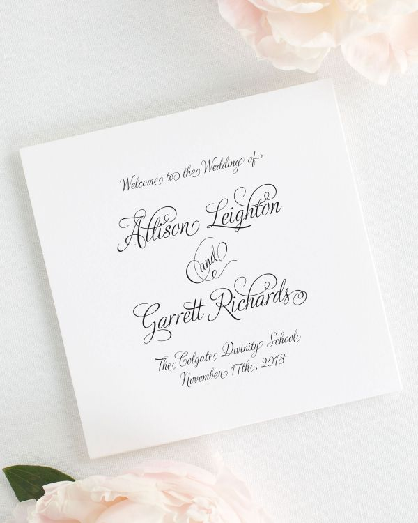 Fairytale Script Wedding Programs