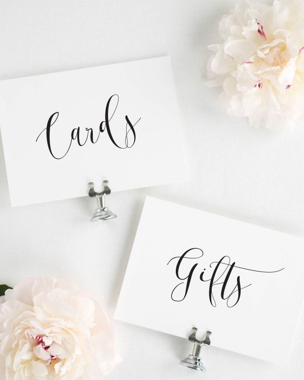 Flowing Calligraphy Wedding Signs Package