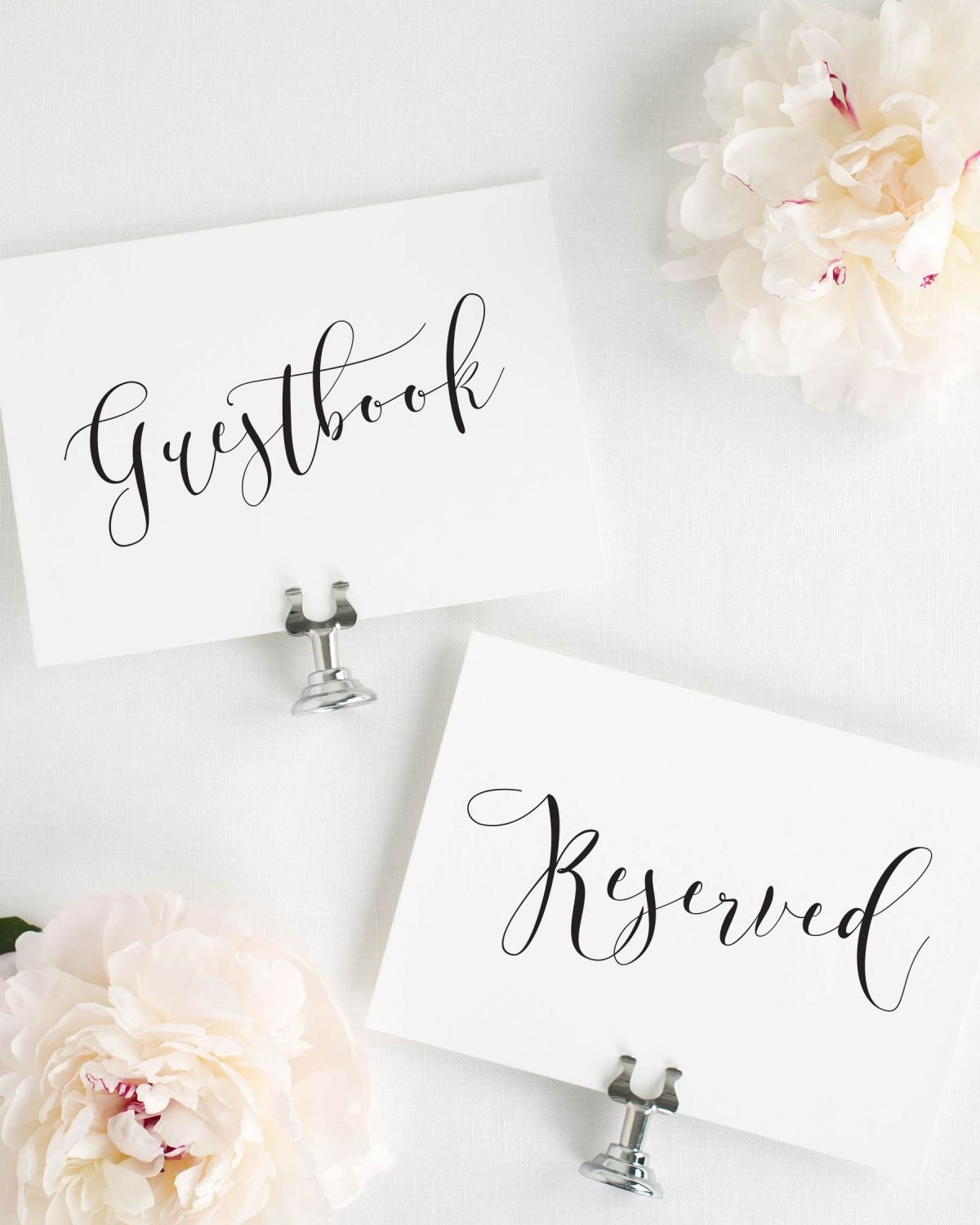Calligraphy Wedding Signs Package