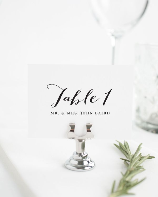 Flowing Script Place Cards